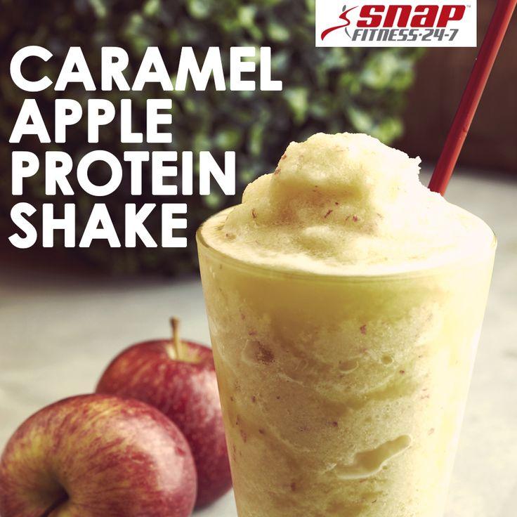 Caramel Apple Protein Shake - 1 Scoop vanilla protein powder 1/2 cup ...