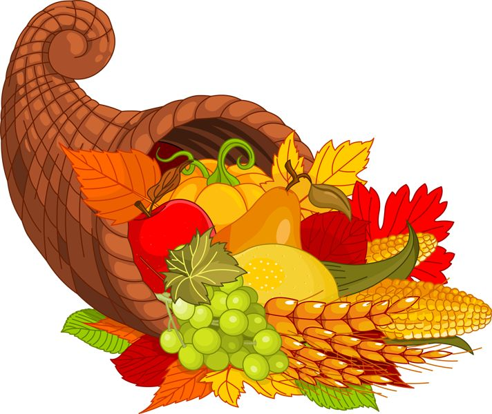 Happy Thanksgiving Clip Art | Happy Thanksgiving Cornucopia Clip Art Happy thanksgiving cornucopia ...