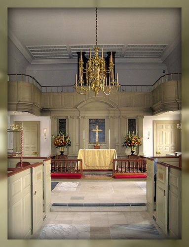Interior Of Historic Bruton Parish Church Colonial Williamsburg