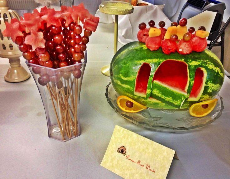 Princess Fruit Wands & Fruit Princess Carriage. #princessparty | For ...