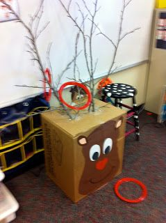 Christmas Party Game  Reindeer Toss @Jacqueline Herrera how cute for Christmas!!