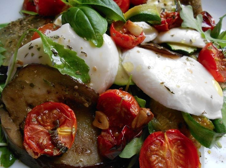 Grilled Eggplant Caprese Salad | Great Appetite | Pinterest