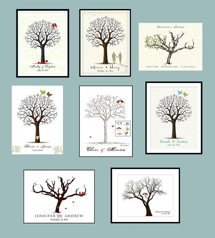 guest book finger print tree