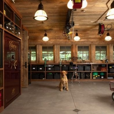 Rustic garage man cave man cave pinterest for Cool garage interior designs