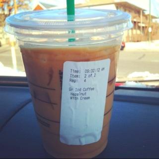 Iced Hazelnut Coffee from Starbucks | love | Pinterest