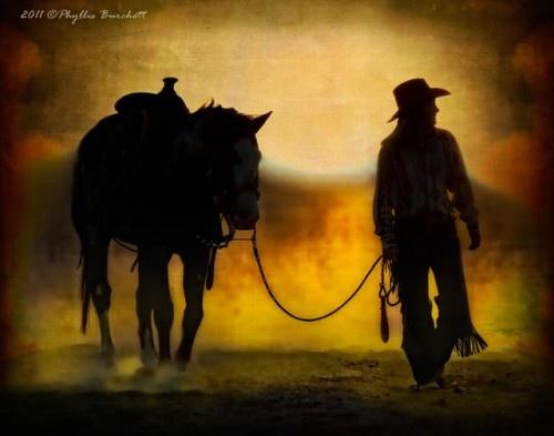cowgirl silhouett wallpaper - photo #10