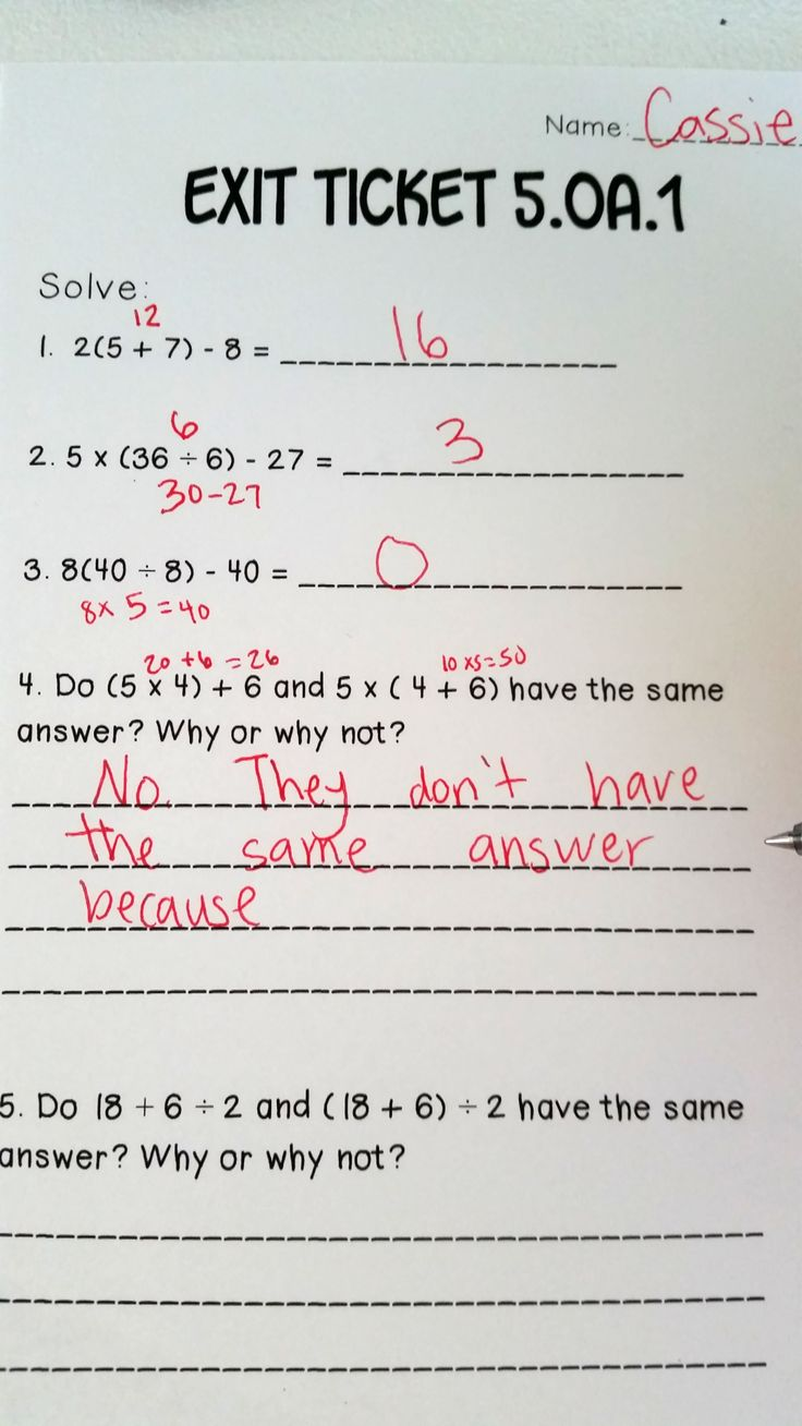 Simple algebra worksheets 5th grade