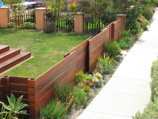 Modern Backyard Fence : Front yard fences  Home Landscapes  Pinterest