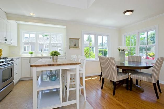 Remodeled mill valley home on the market for Dining room kitchen combination