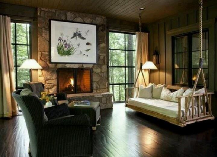 swing in living room for the home pinterest