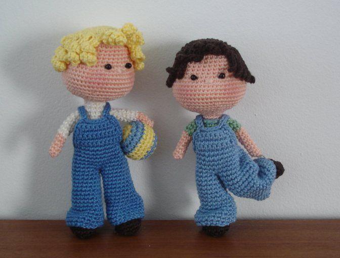 BB Boys crochet dolls Pinterest