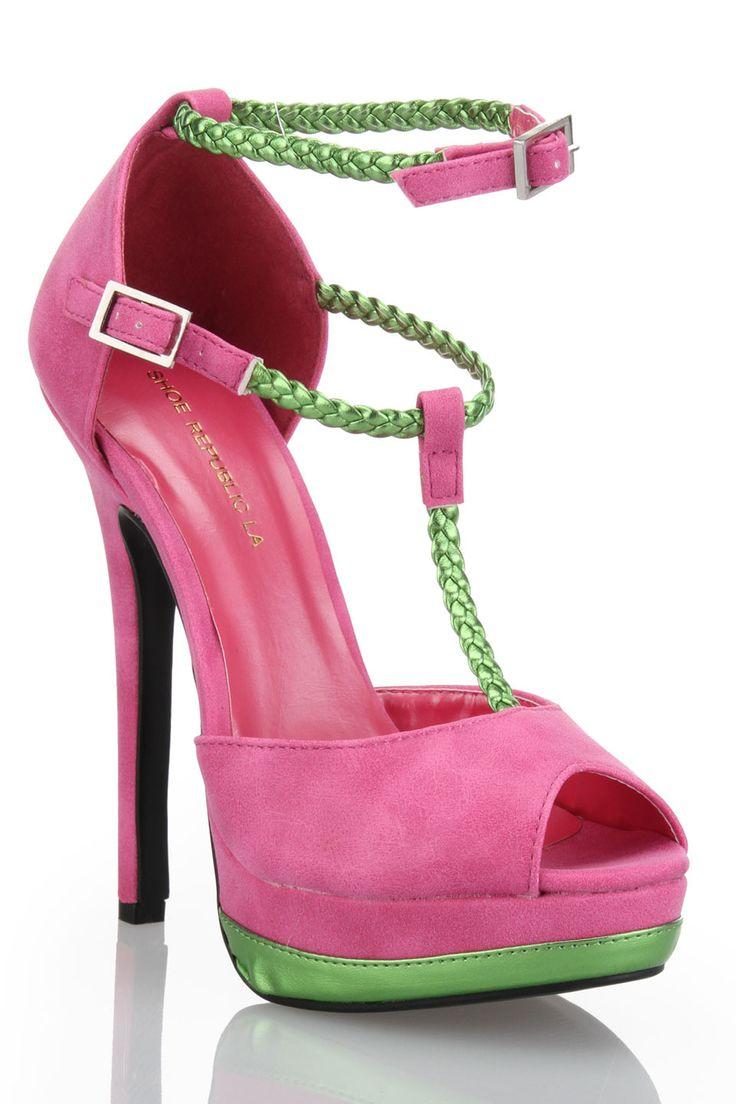 pink and green peep toe shoe republic pink green mood