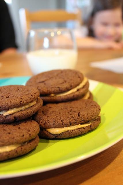 Chocolate Peanut Butter Sandwich Cookies   JTL   Pinterest