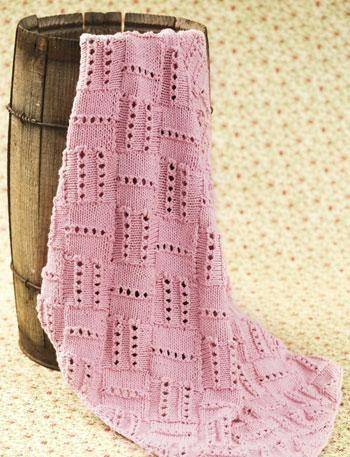Mary Maxim - Rainbow Entrelac Baby Blanket