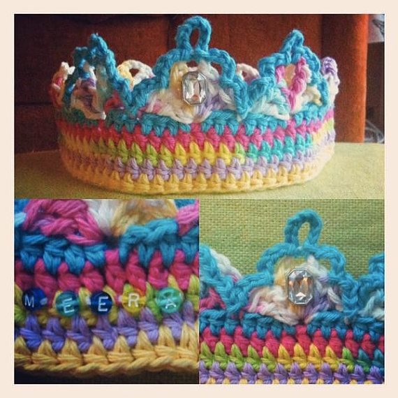 This crown was crocheted for a little girl who lost her hair due to ...