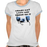 Crazy Cat Lady And Proud Of It T Shirt - Click to see more cat gift