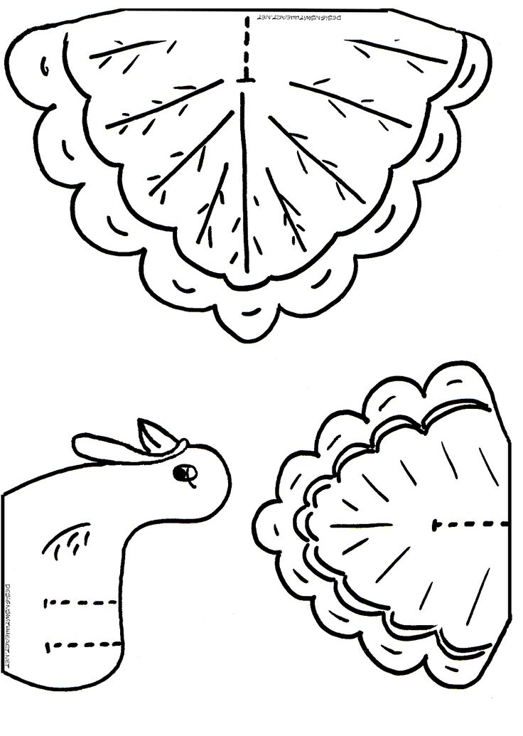 It's just an image of Dynamic Turkey Cutout Printable