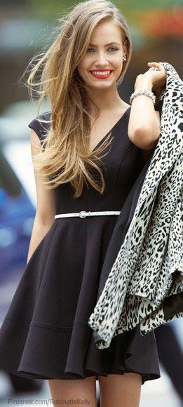 Leopard blazer with mini skirt dress
