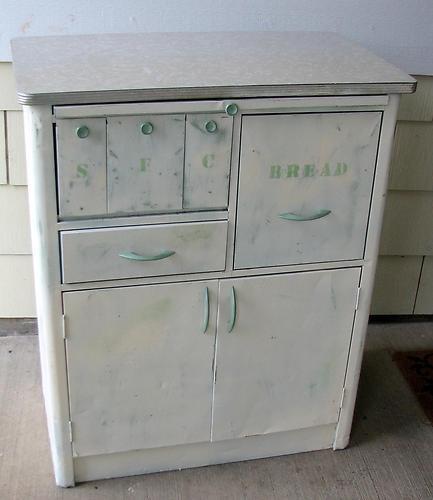 unusual metal kitchen baking cabinet hoosier type nice stenciling