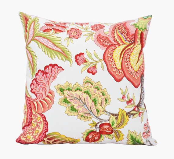 Coral Floral Throw Pillows : Pin by Pillowation on Handmade Pillows Pinterest