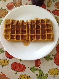 Pumpkin Waffles with Apple Cider Syrup | Recipes | Pinterest