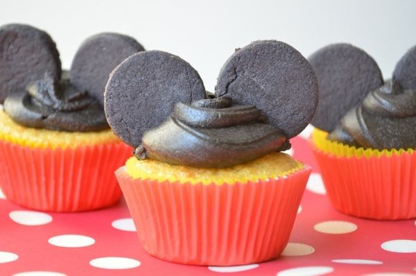 Mickey Mouse Cupcakes #mickey mouse #cupcake #dessert #sweet #snack
