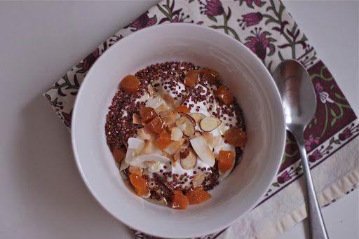 Yogurt with Toasted Quinoa, Almonds & Apricots - The Corner Kitchen ...