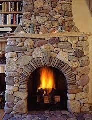 Fieldstone fireplace home decor ideas pinterest for Field stone fireplace
