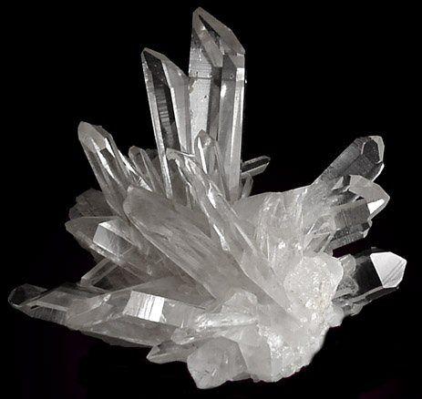 beautiful clear quartz cluster Quartz Crystals Cluster