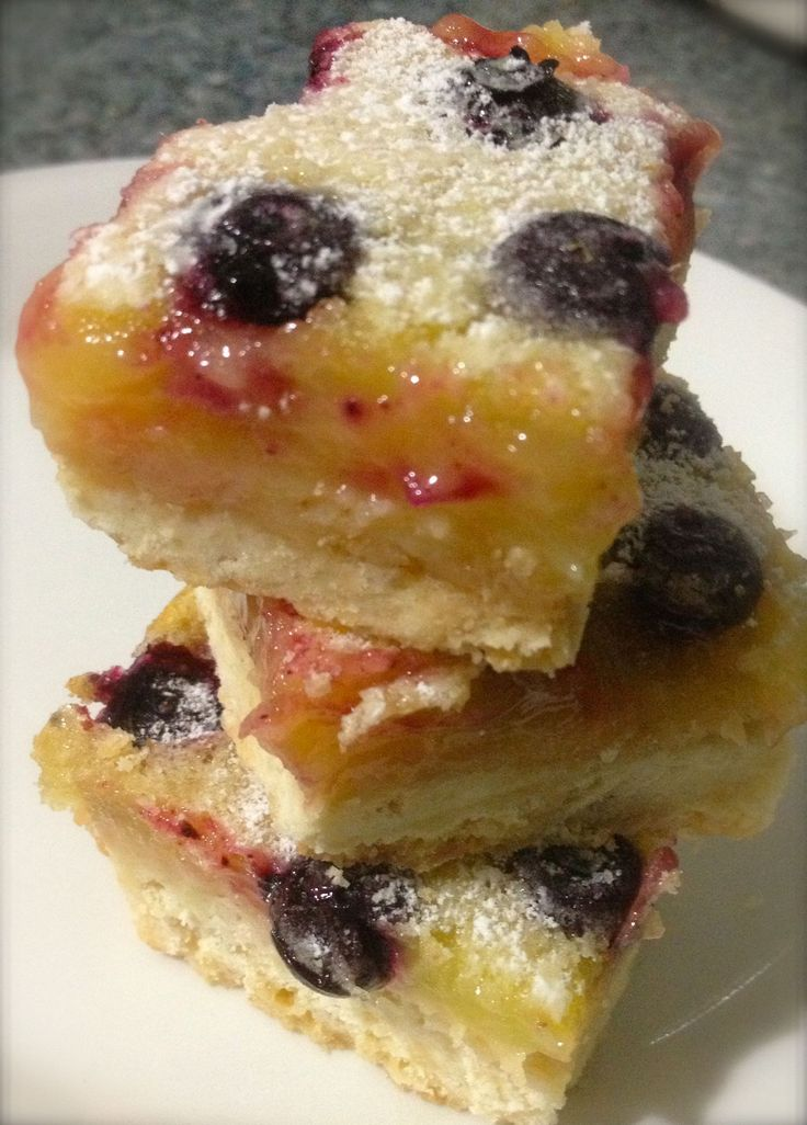 Blueberry Lemon Bars | Food Love | Pinterest