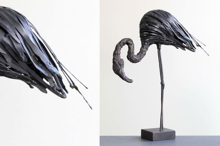 sculpture m tal flamant rose oiseaux pinterest. Black Bedroom Furniture Sets. Home Design Ideas