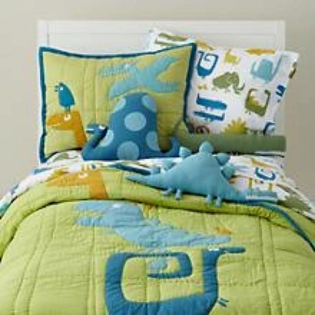 land of nod dino bedding for cam kid s room pinterest. Black Bedroom Furniture Sets. Home Design Ideas