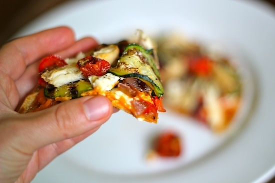 Greek Pita pizza - 250 cal/pizza [this might be good cooked on the ...