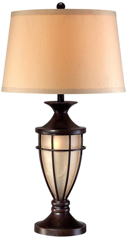 mission cage night light urn table lamp. Black Bedroom Furniture Sets. Home Design Ideas
