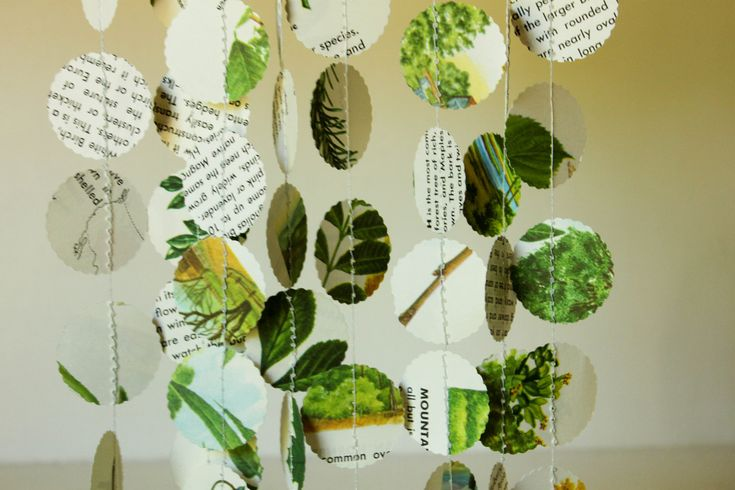 Paper garlands nature themed party decorations nature for Nature decor