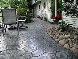 Poured concrete patio For the Home