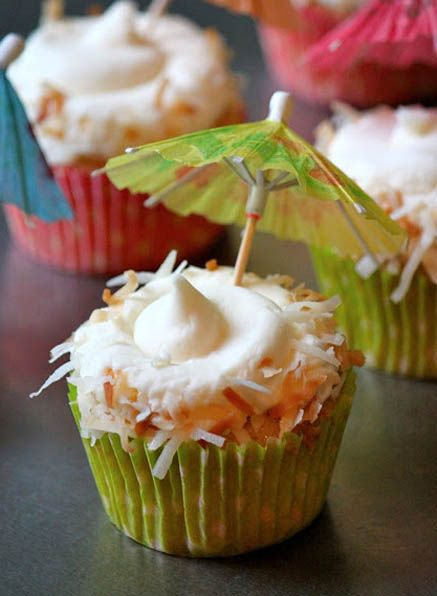 beatsby dre Pina Colada Cupcakes by Baked Perfection  Desserts I wanna try  Pin