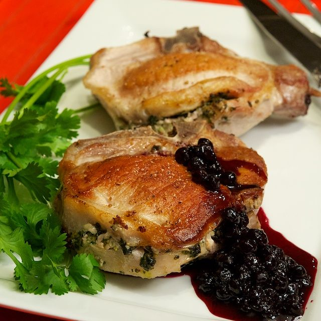 Love Your Heart and Cook These Herb Stuffed Pork Chops with Blueberry ...