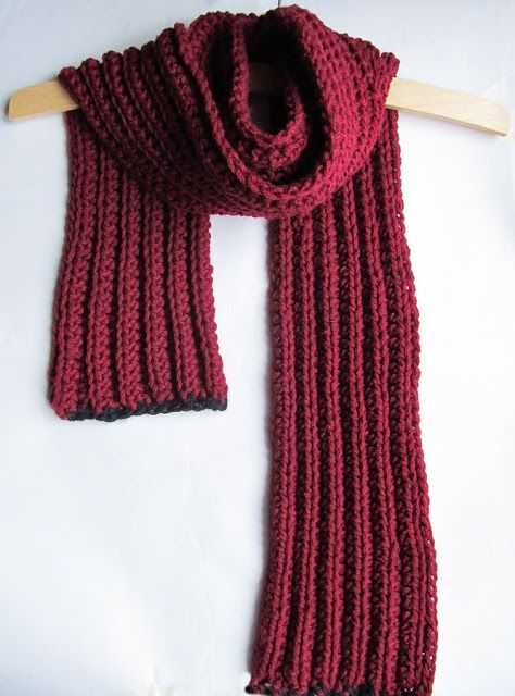 Free Knitting Pattern For Scarf In Chunky Wool : Crochet Chunky Scarf: free pattern Crochet Love! Pinterest