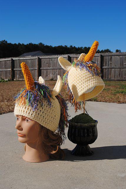 Crochet Unicorn Hat Pattern Free : Crochet Unicorn