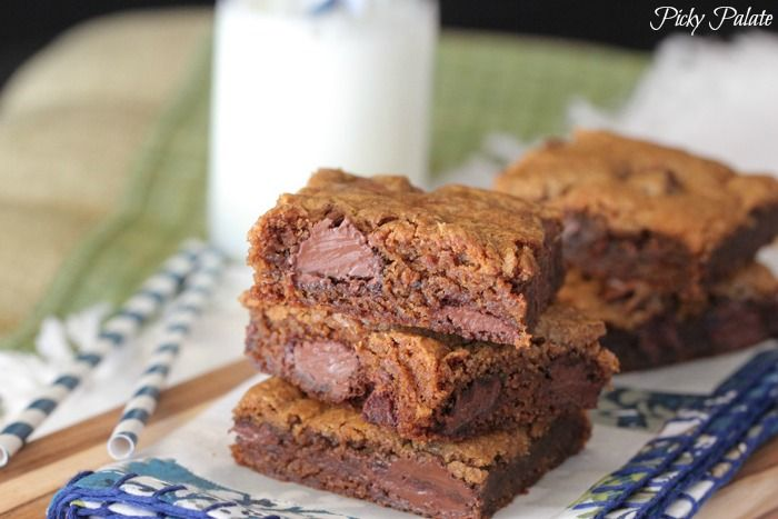 Brown Butter Gingersnap Chocolate Chip Cookie Bars | Christmas Cookie ...