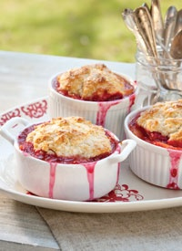 Individual Nectarine and Raspberry Cobblers. This recipe is simple ...