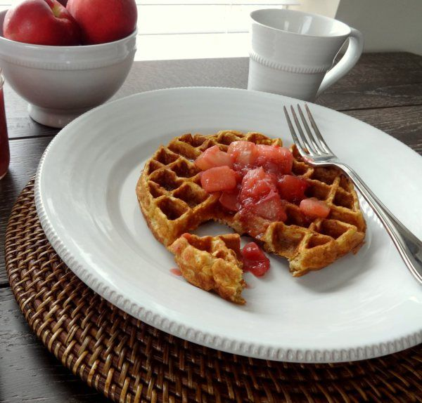 Whole Wheat Buttermilk Waffles with Stone Fruit Compote recipe # ...