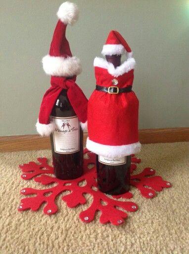 Santa and Mrs. WINE Claus