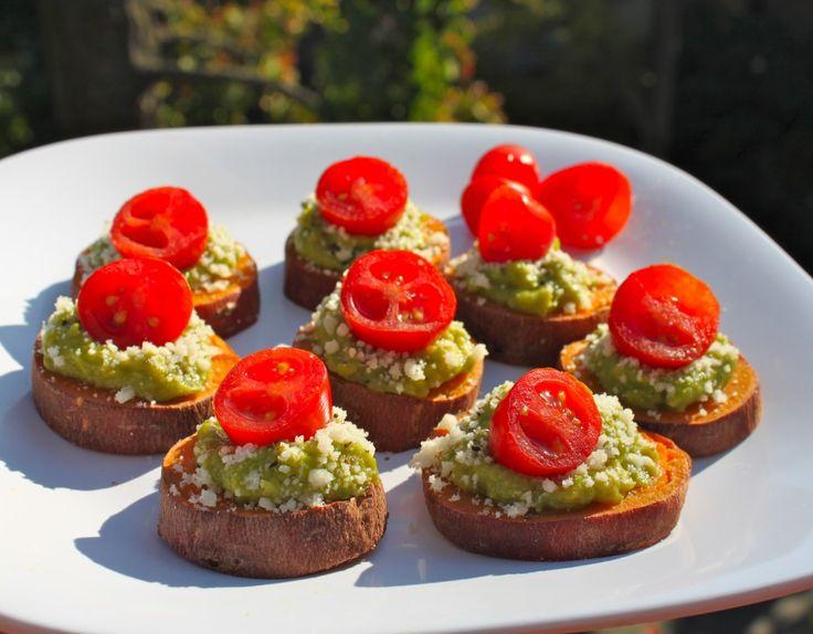 Sweet Potato Guacamole Bites | Feeding the multitudes | Pinterest