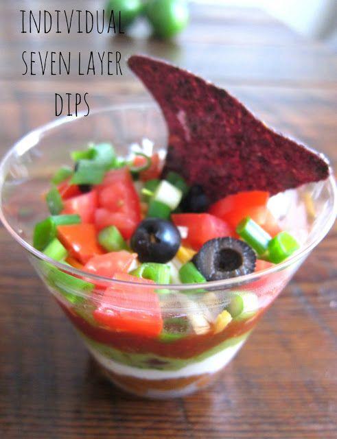 individual seven layer dip recipe | ~Do The Dip~ | Pinterest