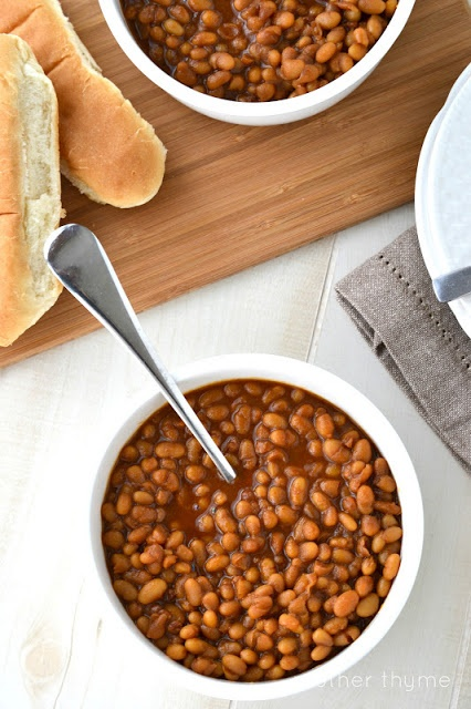 Homemade baked beans using canned navy beans. So easy and delish!