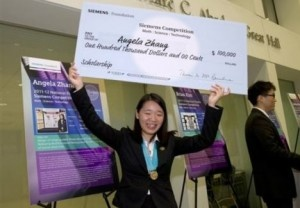 17 year old wins $100,000 in national science contest for discovering the potential cure for cancer. Full story video to watch when you click on the link.