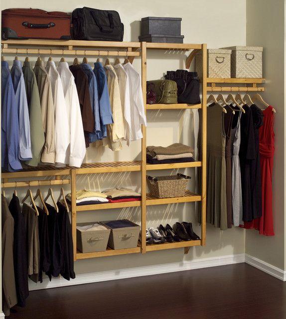 Open Closet Ideas : Wooden open closet  open closet ideas  Pinterest