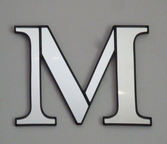 Custom letter wall mirror 49 initial letter m pinterest for Living room 7 letters